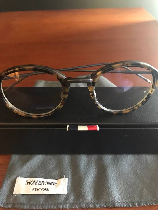 Thom Browne Tortoise Shell Round Frames Size ONE SIZE