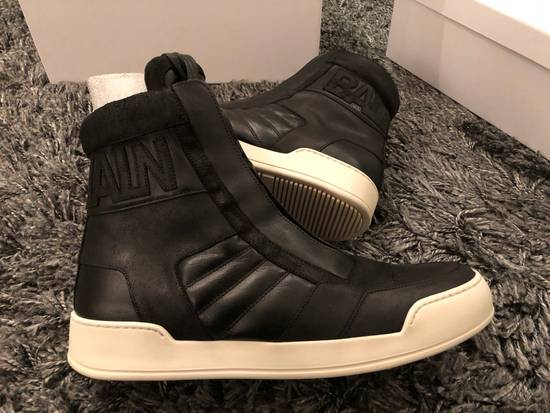 Balmain Black Leather Sneakers Size Us10 Eu43 Size US 10 / EU 43 - 7