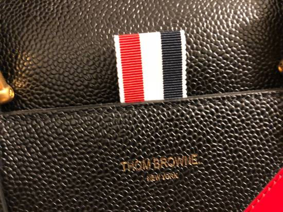 Thom Browne pebble grain leather tote bag Size ONE SIZE - 3