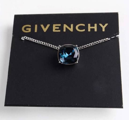 Givenchy Givenchy Blue Crystal Silver Necklace Diamond Chain Size ONE SIZE