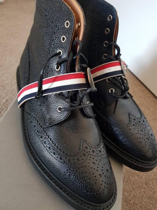 Thom Browne Striped Strap Brogue Boots Size US 11 / EU 44 - 4