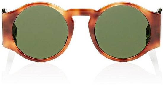 Givenchy SALE! NEW Givenchy 7056 Havana Brown Green Tinted Lens Round Sunglasses Size ONE SIZE - 1