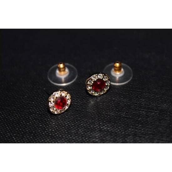Givenchy Gold Ruby Crystal Earrings Size ONE SIZE - 3
