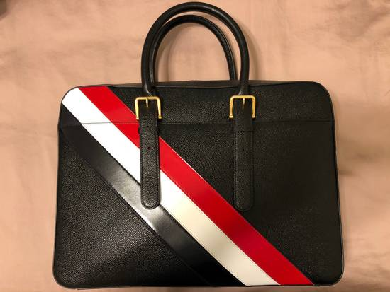 Thom Browne pebble striped briefcase Size ONE SIZE - 8