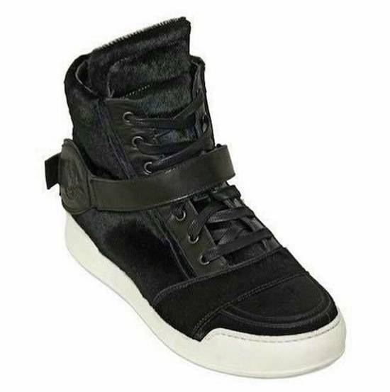 Balmain Balmain Black Pony Skin Fur High-top Sneakers Size US 8 / EU 41 - 4