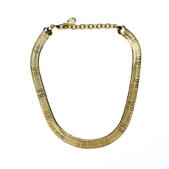 "Givenchy 17.25"" Gold Logo Engraved Chain Necklace Size ONE SIZE"
