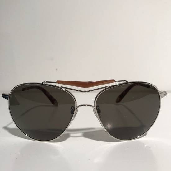 Givenchy Givenchy Aviator Sunglasses Silver Brown NIB Size ONE SIZE