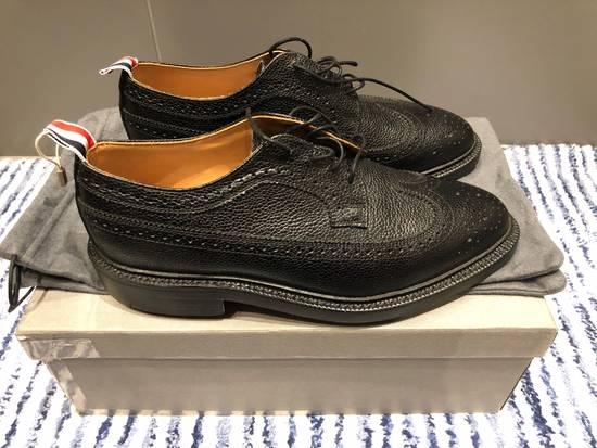 Thom Browne Classic Longwing Brogues with Leather Sole in Pebble Grain Size US 9 / EU 42