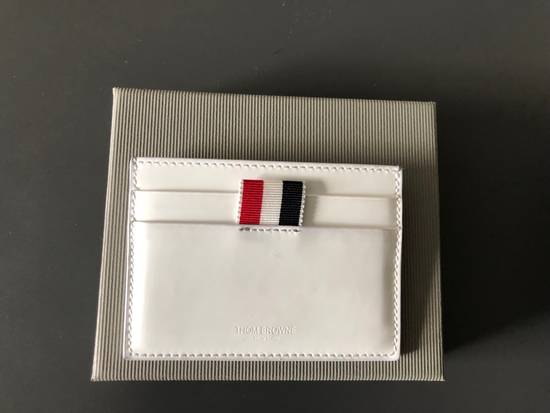 Thom Browne White Patent Leather Card Holder Size ONE SIZE