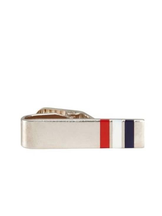 Thom Browne Thom Browne Classic RWB Silver Short Tie Bar Size ONE SIZE