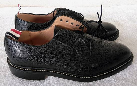 Thom Browne THOM BROWNE BLACK BLUCHER/DERBY IN PEBBLE GRAINED LEATHER Size US 10 / EU 43 - 3