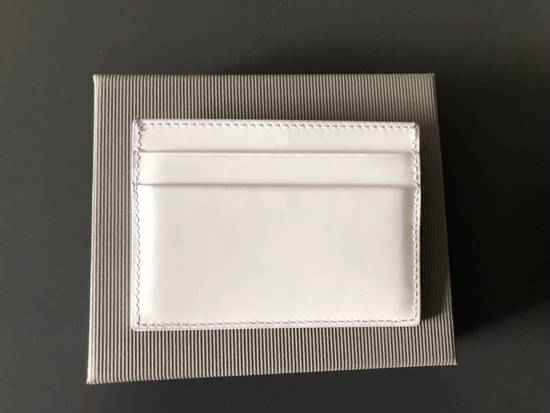 Thom Browne White Patent Leather Card Holder Size ONE SIZE - 1