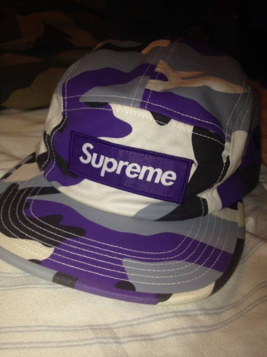 f9daf7c8039 Supreme Purple Camo Box Logo Hat Size one size - Hats for Sale - Grailed