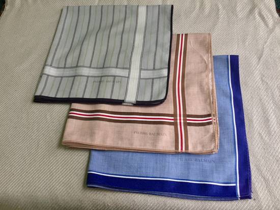 Balmain Set 3 Handkerchief Pockersquare Size ONE SIZE - 1