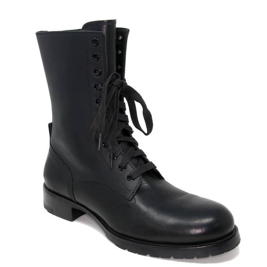 Balmain Balmain Black Classic Pierre Men's Leather Panelled High Combat Boots Booties Size US 9 / EU 42 - 5
