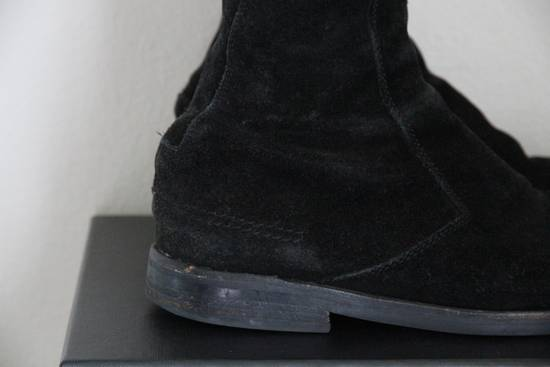Dior RARE AW04 Dior Homme 'VOTC' Hedi Slimane Black Suede Leather Boots 42 / 9 Size US 9 / EU 42 - 5