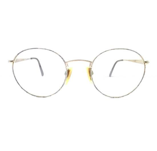 Givenchy Vintage 90s Gold Round Givenchy Frames Pink Blue Purple Eyeglasses Glasses Not Cartier Gucci Saint Laurent Fendi Dior Versace Size ONE SIZE - 2