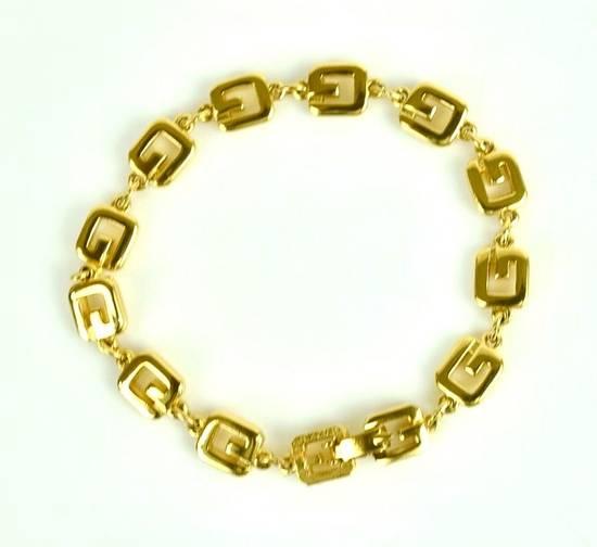 Givenchy Givenchy Vintage G Link Gold Tone Bracelet Size ONE SIZE