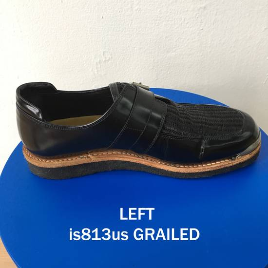 Balmain BALMAIN Black Leather Buckled Steel Capped Shoes Size US 9 / EU 42 - 3