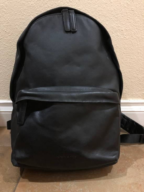 Givenchy Black On Black Leather Backpack With Metalware Size ONE SIZE