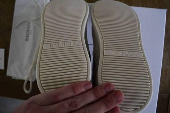 Balmain Balmain Authentic $1150 Leather White High Top Sneakers Size 11 Brand New Size US 11 / EU 44 - 5