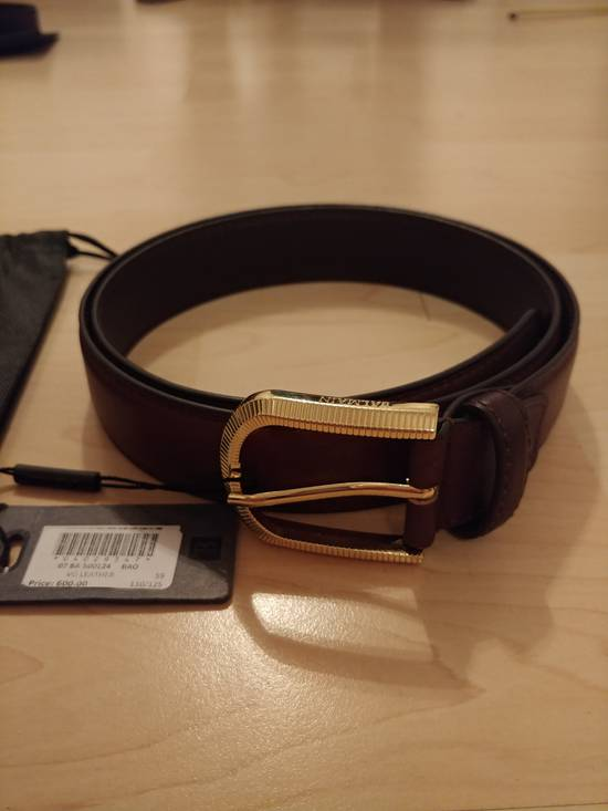 Balmain Balmain brown leather gold buckle belt Size 32