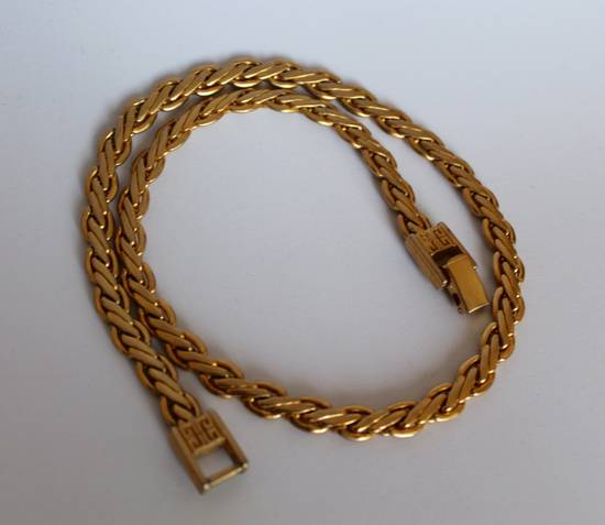 Givenchy Gold Plated Flat Wheat-Link Chain(*LAST DROP*) Size ONE SIZE