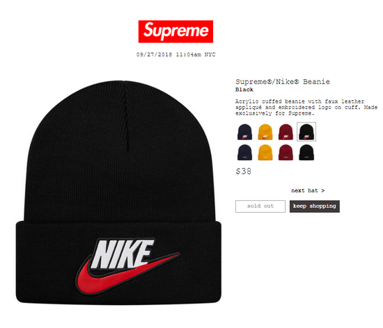 f2f4783769175 Supreme Supreme® Nike® Beanie Size one size - Hats for Sale - Grailed