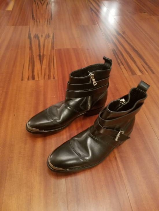 Balmain Balmain Black Steel Tip Boots Size 43 euro / 10 US Metal toe cap Size US 10 / EU 43 - 2