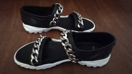 Givenchy Palladio Chain Strap Leather Sandals Black Size US 12 / EU 45 - 2