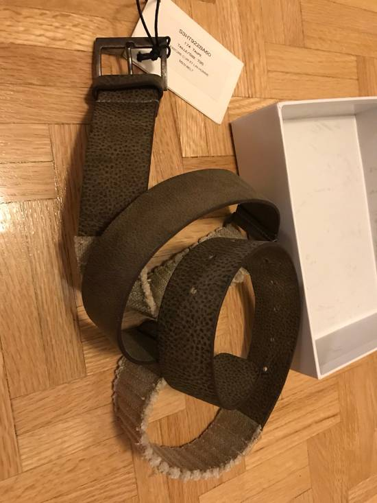Balmain Size 95/38 - Leather / Fabric Belt Size 38 - 9