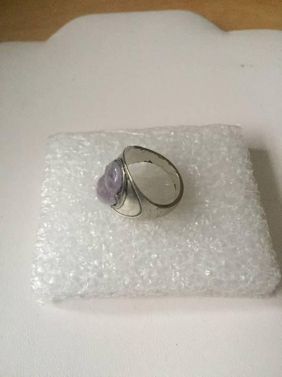 Handmade Amethyst Stone Tibetan Silver ring - Size 7.25 Size ONE SIZE - 1