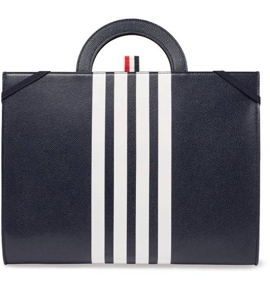 Thom Browne NWT Striped Pebble-grain Leather Briefcase Size ONE SIZE
