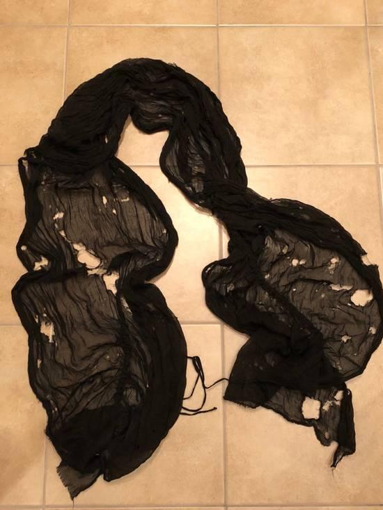 Julius Black Distressed Shawl Size ONE SIZE