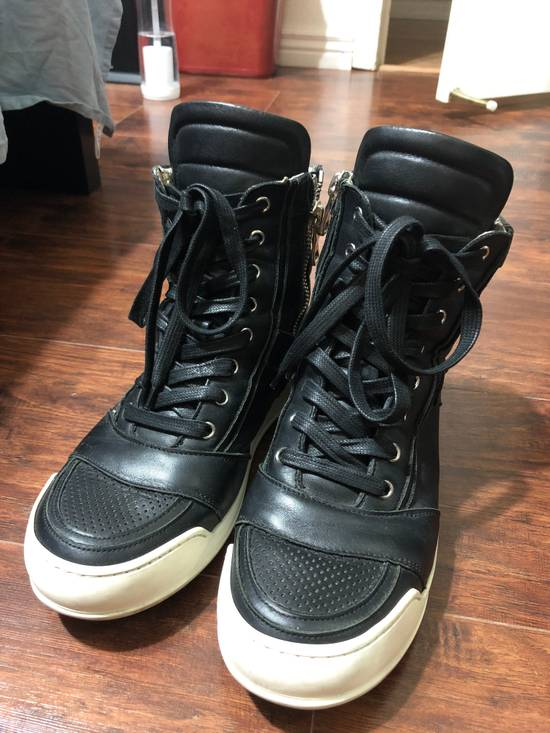 Balmain Leather high top sneakers Size US 7 / EU 40