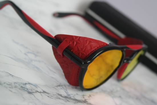 Givenchy NEW Givenchy 7038/S Leather Star Shield Round Black Red Mirrored Sunglasses Size ONE SIZE - 9