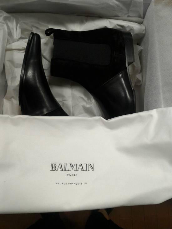 Balmain 40-41-42 Contrast Suede & Leather Boot Size US 9 / EU 42 - 8