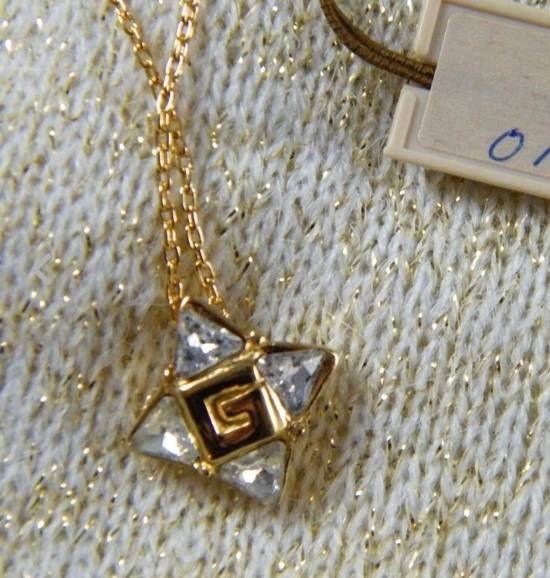 Givenchy Givenchy G Pendant Crystal Star Gold Tone Chain Vintage Necklace Diamonds Size ONE SIZE - 3