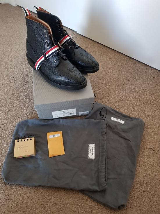 Thom Browne Striped Strap Brogue Boots Size US 11 / EU 44 - 1