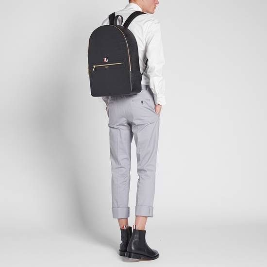 Thom Browne Black Pebble Leather Backpack Size ONE SIZE - 2
