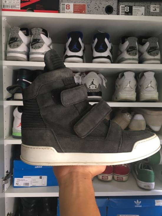 Balmain High Top Black Daim Sneakers Size US 7.5 / EU 40-41