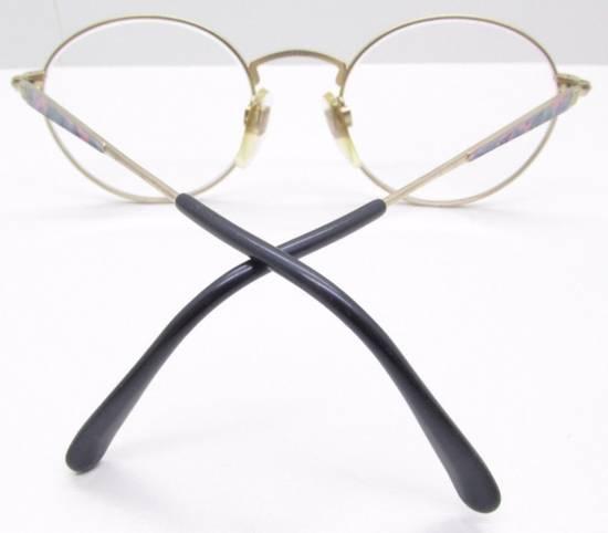 Givenchy GIVENCHY Vintage 90s Oval Round Frame Eyewear Gold Tone Purple Blue Pink Green Eyeglasses Glasses Size ONE SIZE - 6