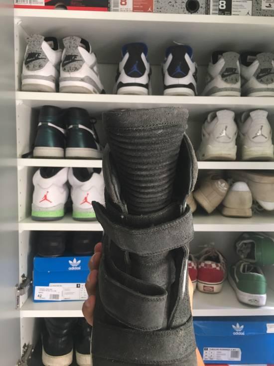 Balmain High Top Black Daim Sneakers Size US 7.5 / EU 40-41 - 1
