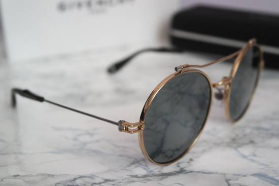 Givenchy NEW Givenchy 7079/S Gold Metal Silver Mirrored Round Sunglasses Size ONE SIZE - 11