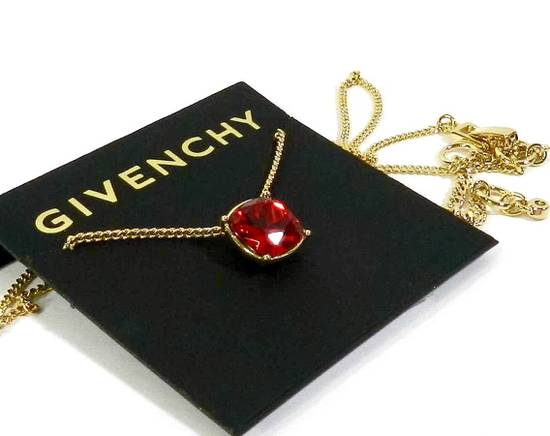 Givenchy Givenchy Gold Tone Chain Red Ruby Crystal Pendant Necklace Size ONE SIZE