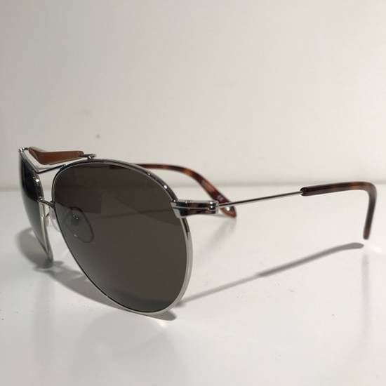 Givenchy Givenchy Aviator Sunglasses Silver Brown NIB Size ONE SIZE - 1