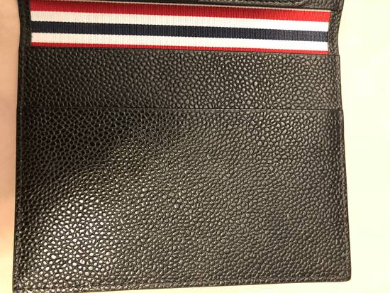 Thom Browne pebble grain leather passport holder Size ONE SIZE - 4