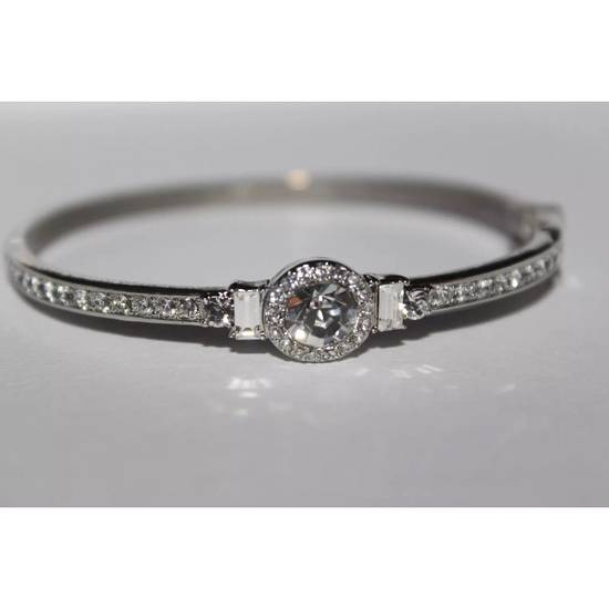 Givenchy Iced Out Silver Bangle Bracelet Size ONE SIZE - 1