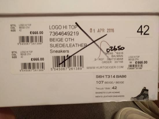 Balmain NEW Balmain Leather and Suede Hi-Top Sneakers Size US 9 / EU 42 - 3