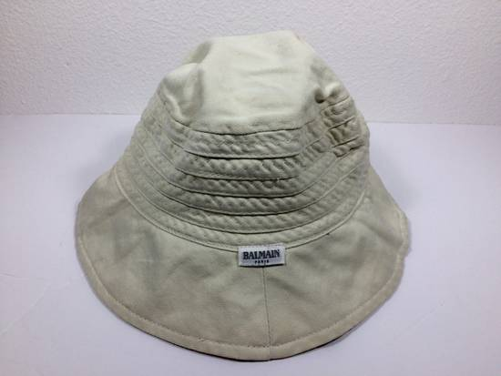 Balmain Cream White Bucket Safari Hat Likely Children's Size ONE SIZE - 3